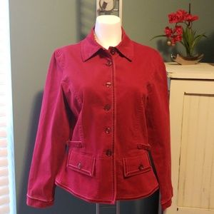 TALBOTS Blazer with Crushed Velvet Accents